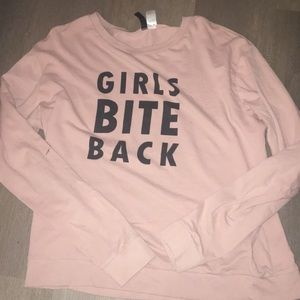 Baby Pink Graphic Long Sleeve